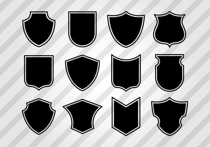 Free Vintage Shield Shapes Vector