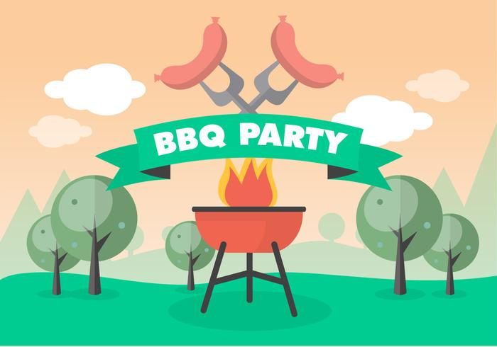 Bbq Picnic Vector Background