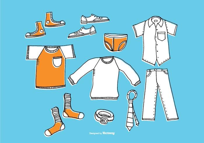 Hand Drawn Men's Clothing Vectors