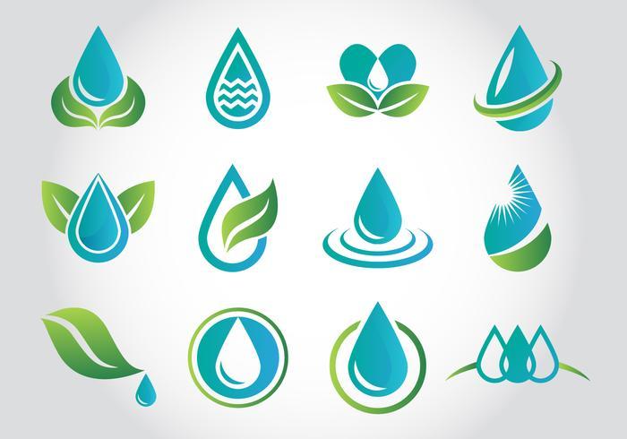 water drop logo free vector art 12271 free downloads