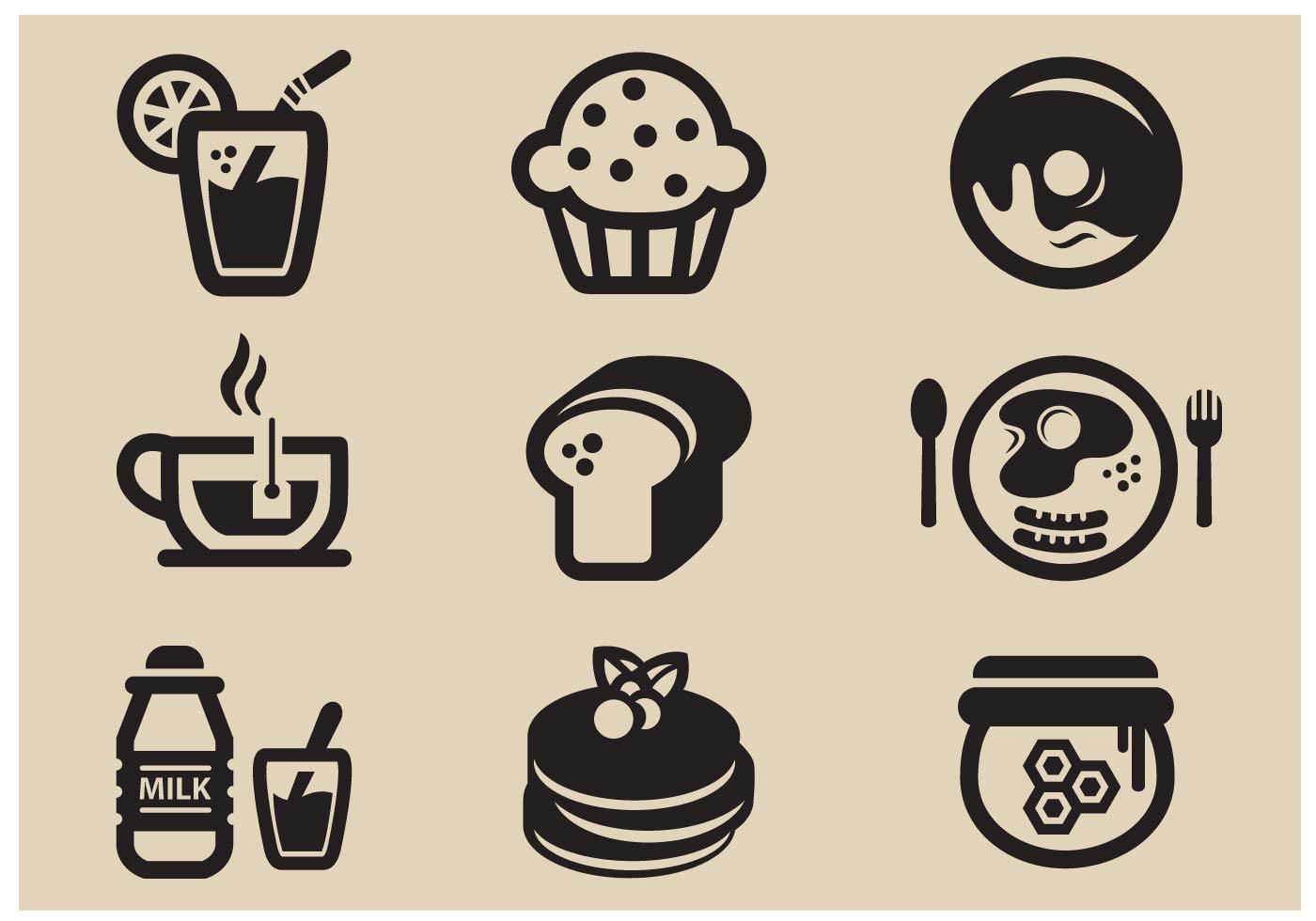 breakfast vector icon download free vector art stock