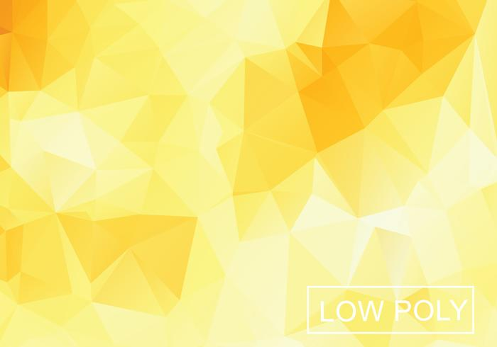 Yellow Geometric Low Poly Style Illustration Vector