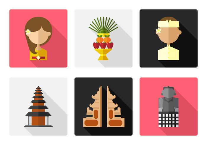 Vector bali pictogram set