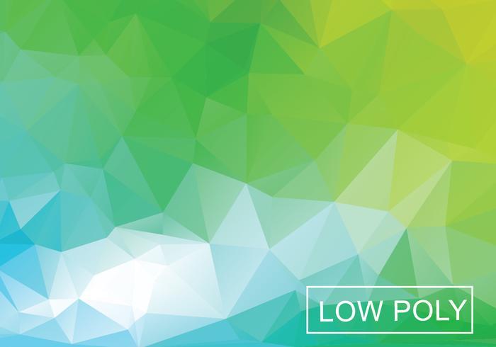 Vettore basso geometrico verde dell'illustrazione di stile