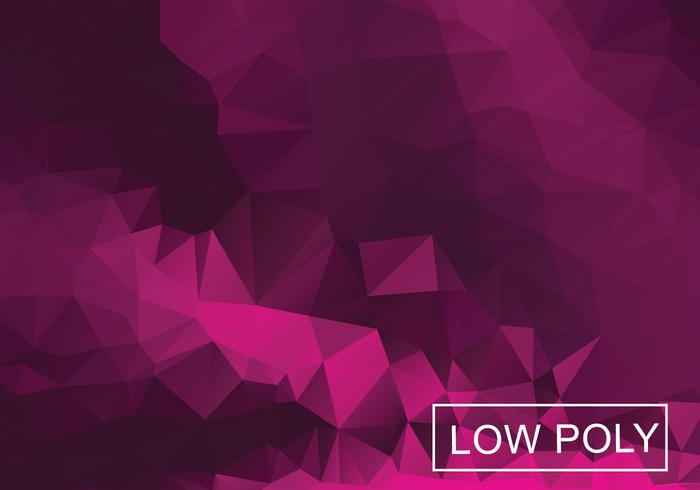 Magenta Geometric Low Poly Style Illustration Vector