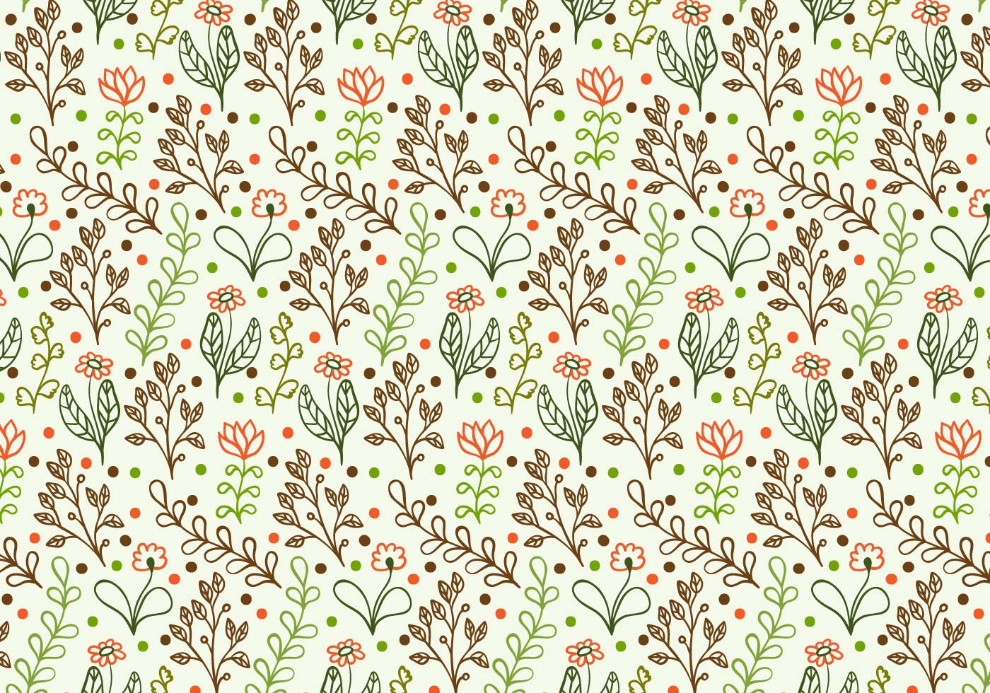 Free Vector Doodle Floral Background - Download Free ...