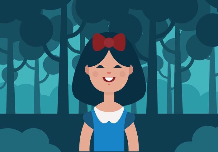 Vector Snow White Princess
