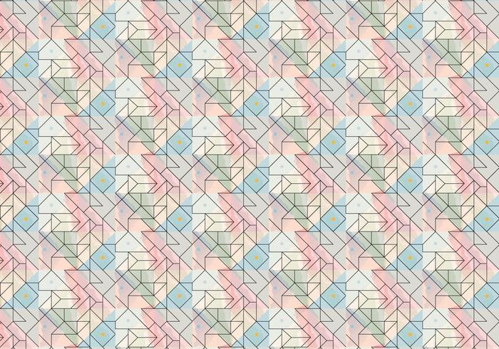 Geometric Outline Brush Pattern