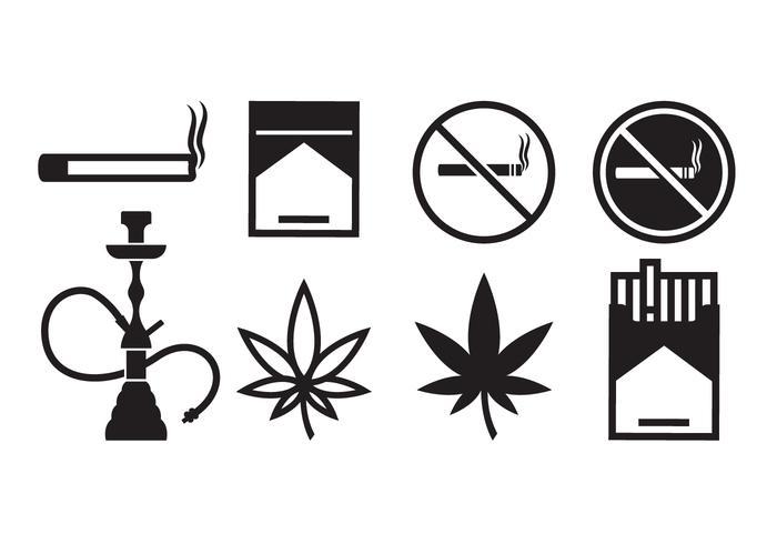 Freie Rauchen Icons