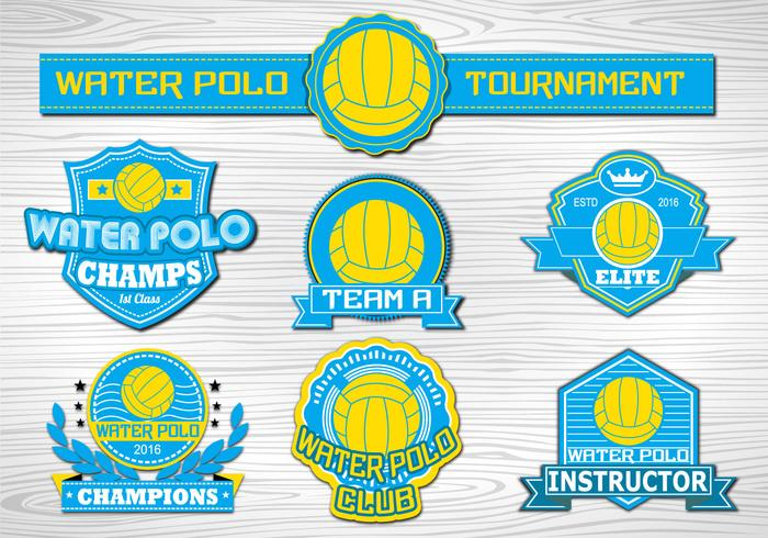 Water Polo Sport label collection