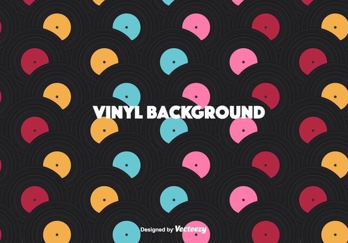 Bunte Vinyl Vektor Hintergrund
