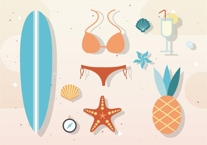 Free Vector Summer Elements & Accessories
