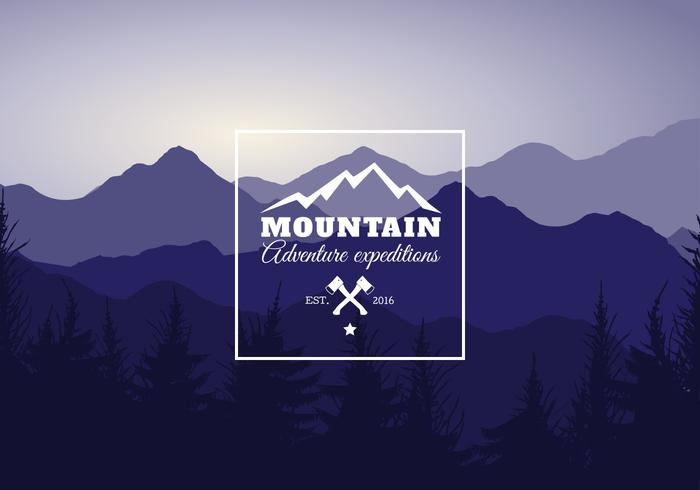 Free Mountain Landscape Vector Illustration