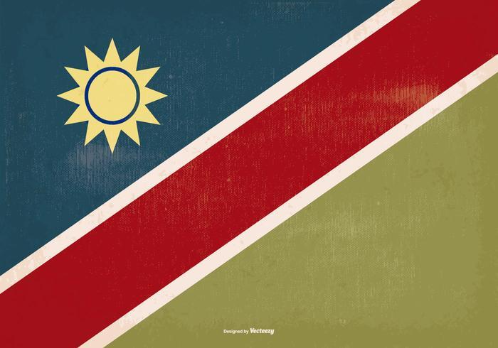 Bandeira de Namíbia de estilo antigo