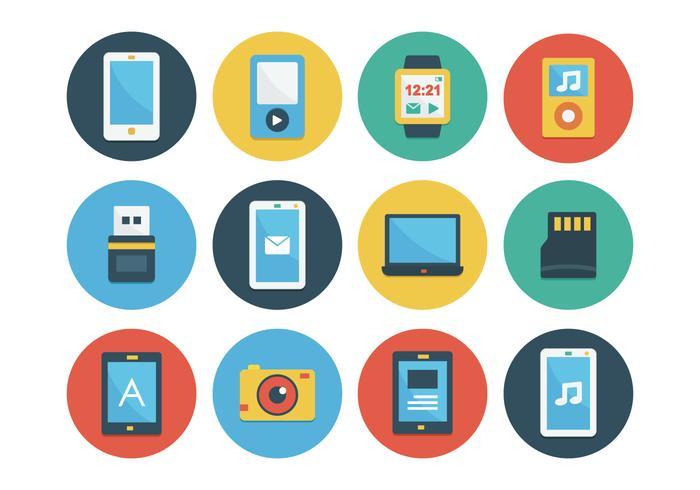 Conjunto de ícones de Gadget Flat