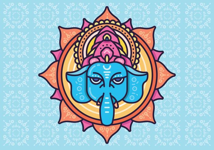 Hindu elephant head God Lord Ganesh. Hinduism. Happy Ganesh Chaturthi.