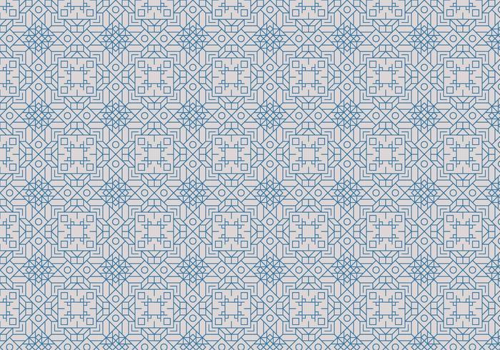 Decorative Outline Motif Pattern