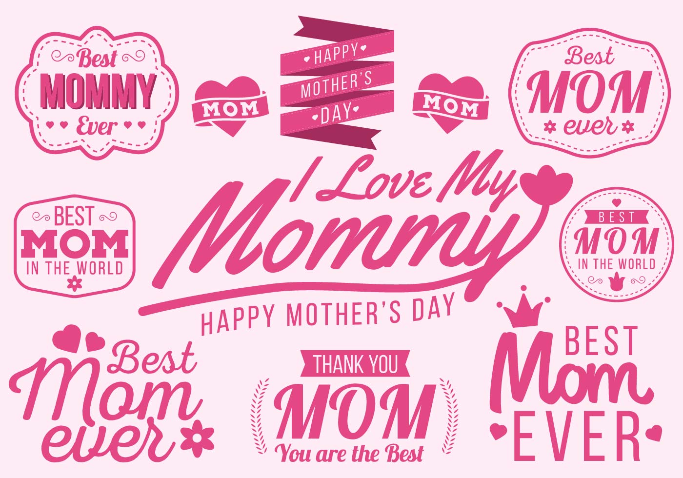 Free Happy Mother S Day Typography Vector Download Free