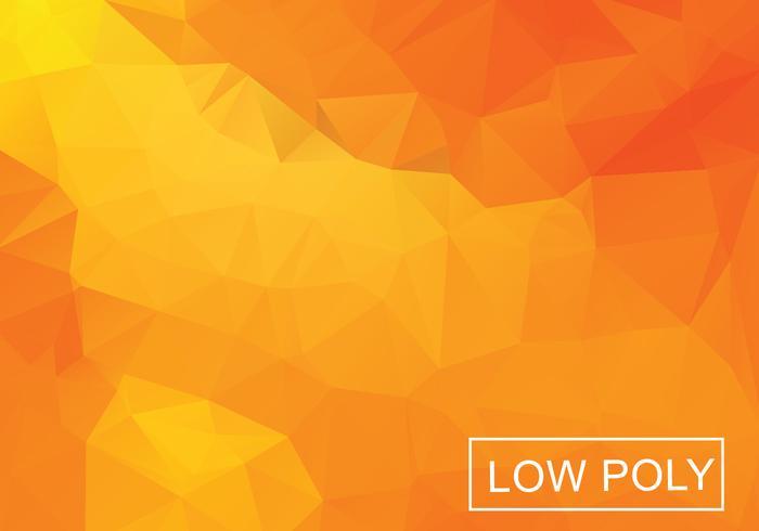 Oranje Geometrische Lage Polystijl Illustratie Vector