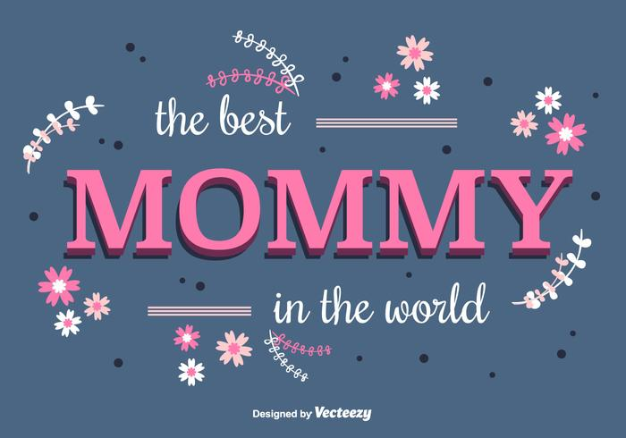 Cute Mommy Vector Background