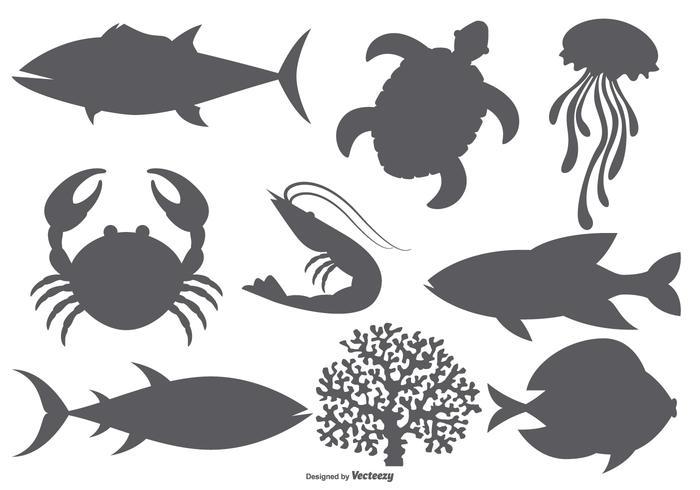 Sea Animal Vector Shapes