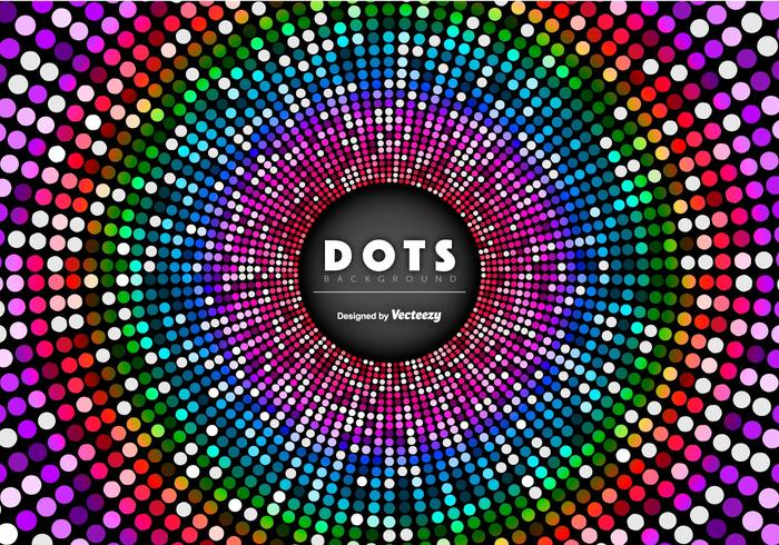 Vector Abstract Background With Colorful Dots