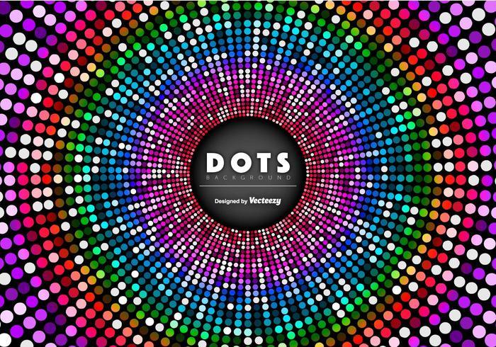 Sfondo astratto vettoriale con puntini colorati