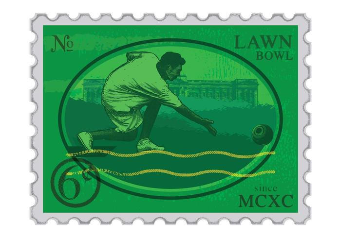 Lawn Bowls Stamp