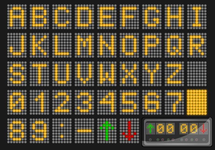Nummer en Alfabet LED Vector