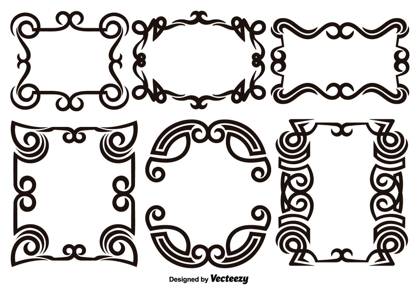 Scroll works design ornamental decorative frames for Decorative scrollwork