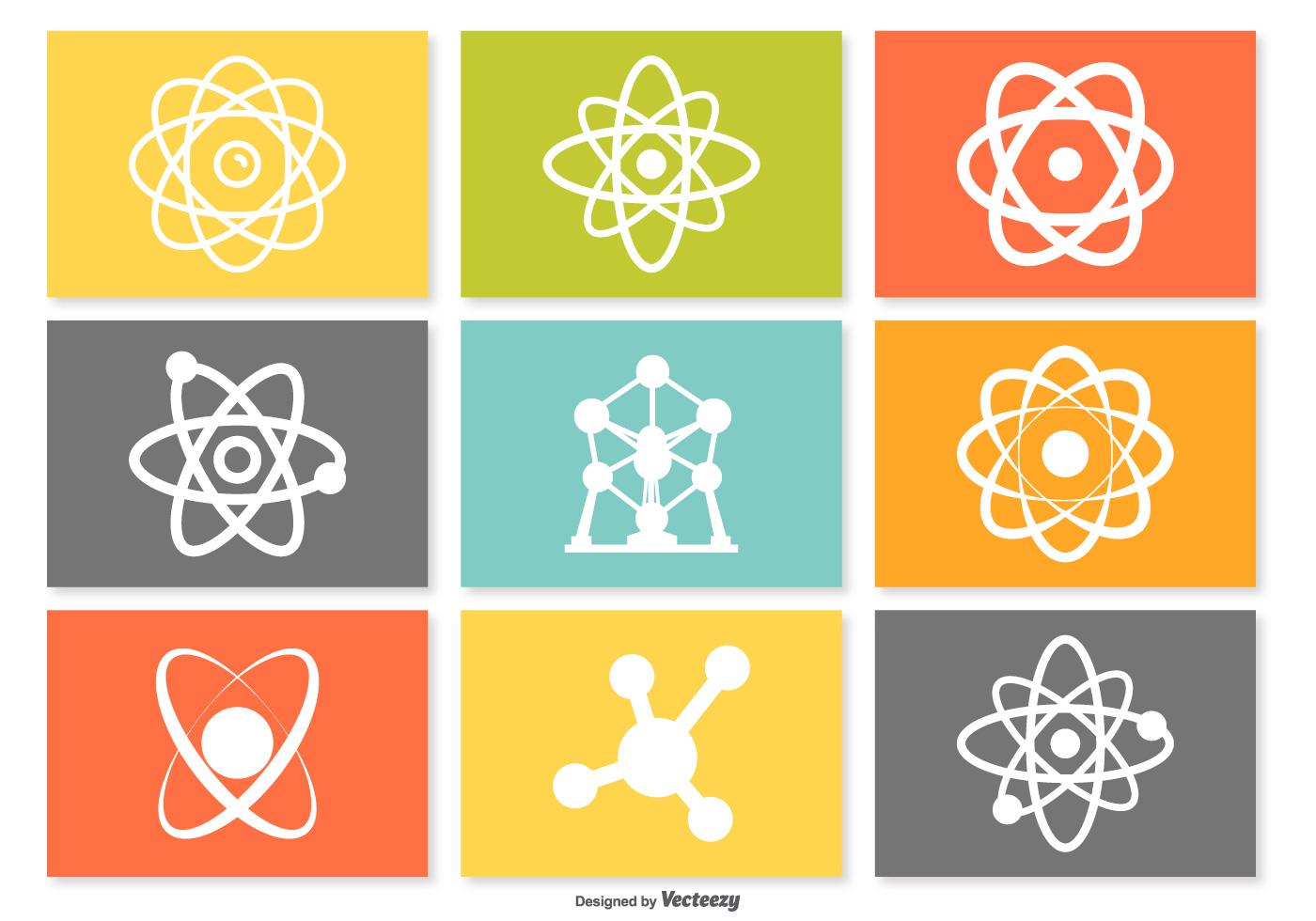 atom icon set download free vector art stock graphics
