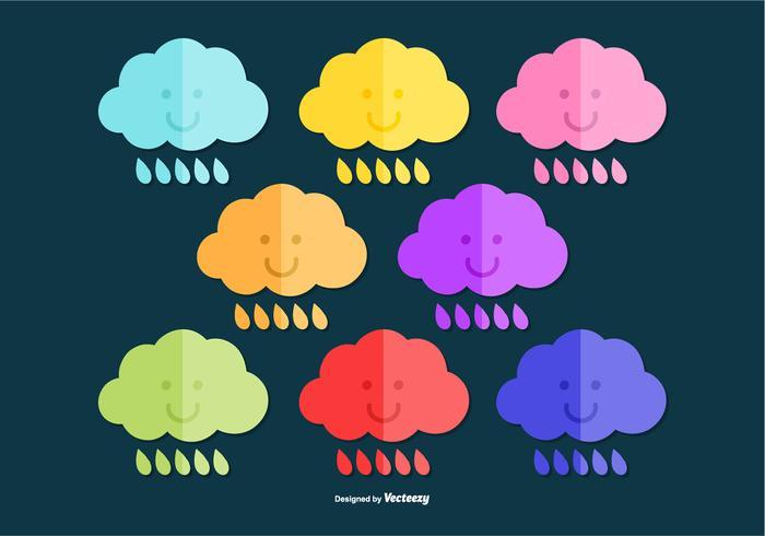 Vettori colorati della nuvola di pioggia