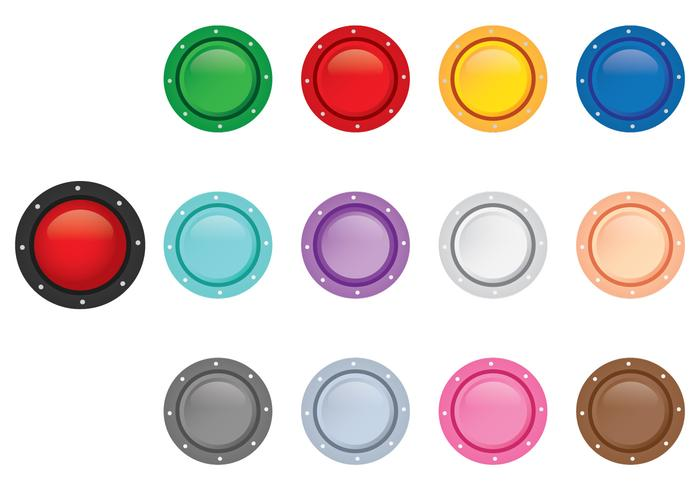 Arcade Button Top View vector