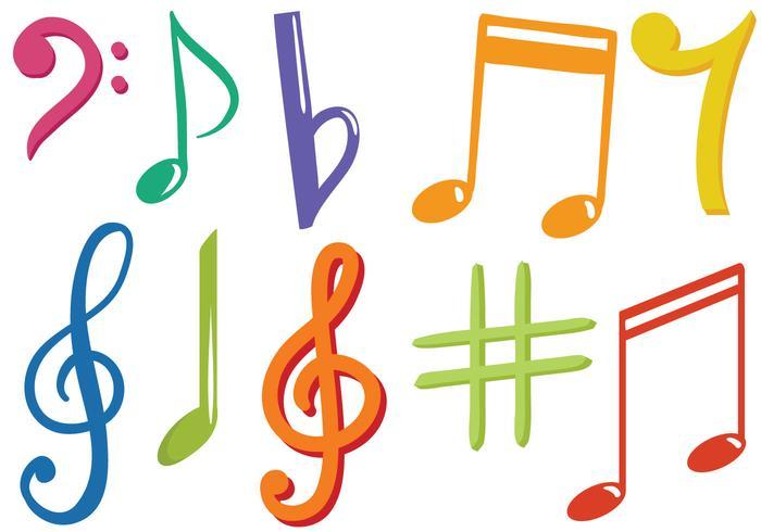 Vettori gratuiti di segni muzical