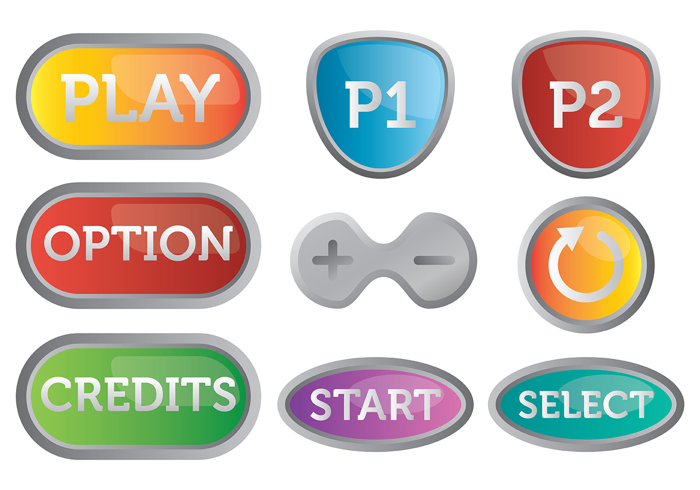 free arcade button icons vector download free vector art stock