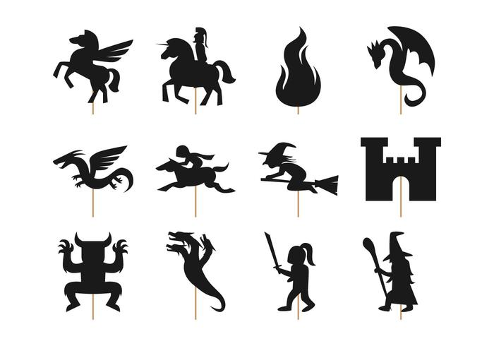 Free fairy tale shadow puppet vector download free for Free shadow puppet templates