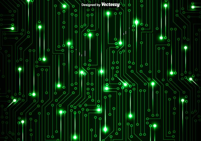 Abstract Circuit Board Background By Silvertiger: Green Circuit Board Vector Background