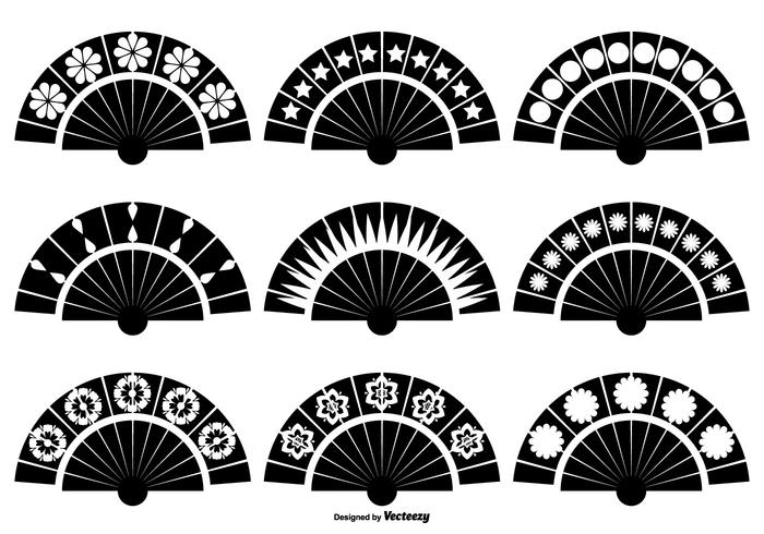 Spanish Fan Vector Shapes