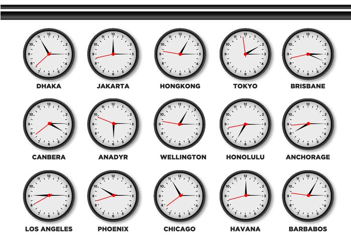 Time Zone Clock vector