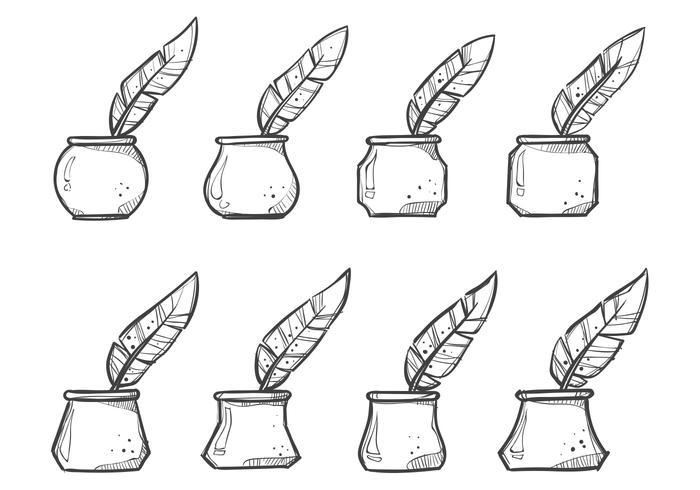 Free Ink Pot Vectors