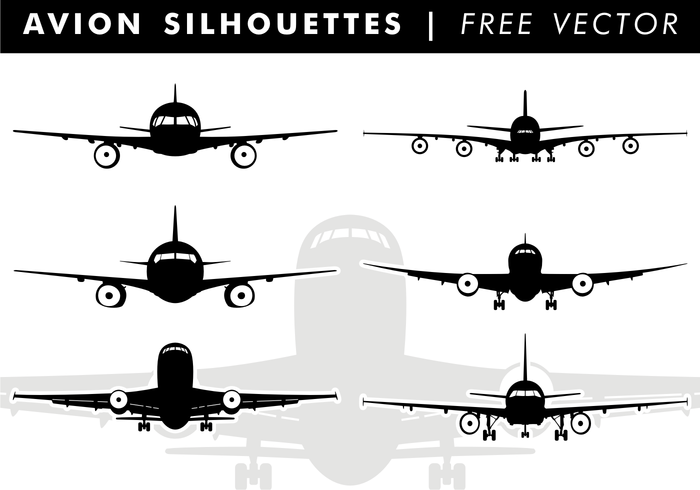 Avion Silhouettes Vector