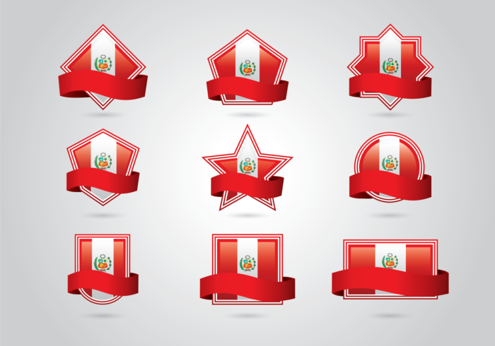 Flag Vector Set for Peru