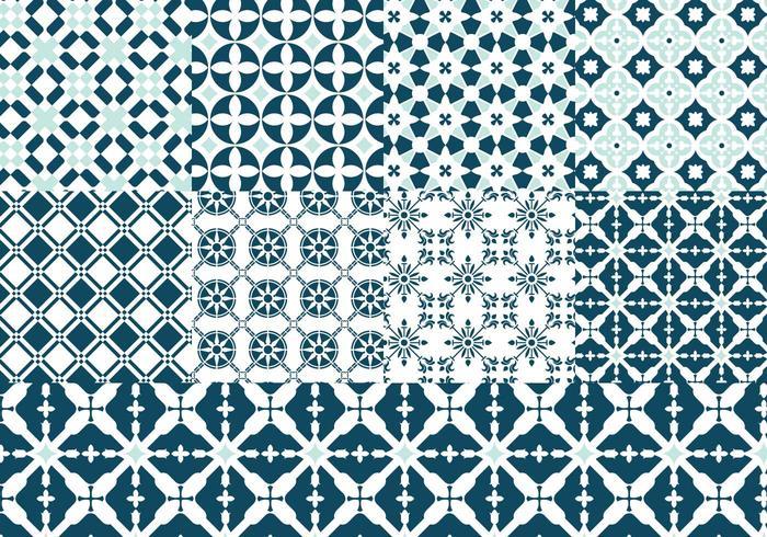 Paquete de patrón de vector portugués