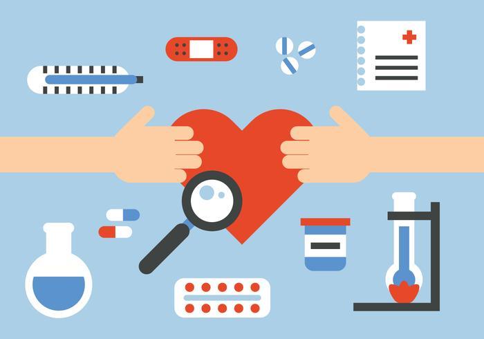 Heilende Herz-Vektor-Elemente
