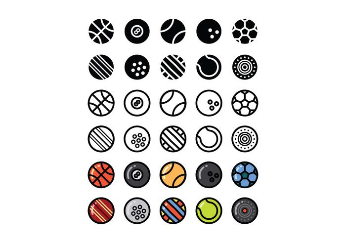 Set of Sport Ball Vectors