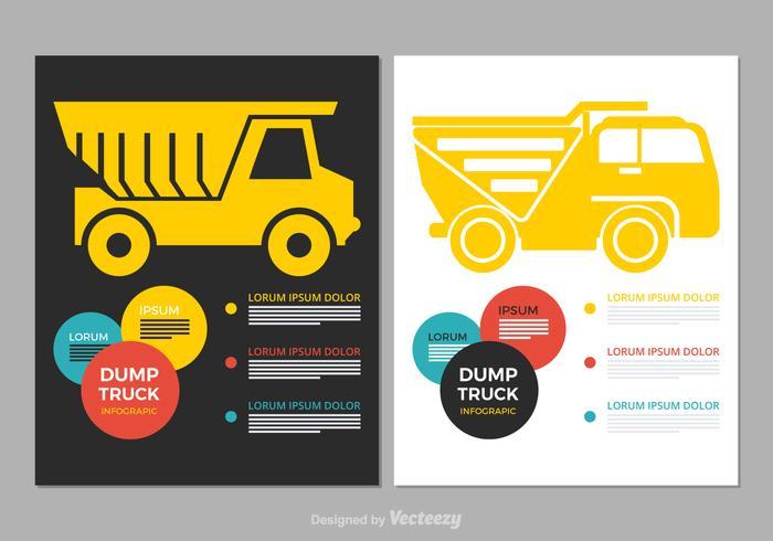 Infographic do vetor do caminhão de despejo gratuito