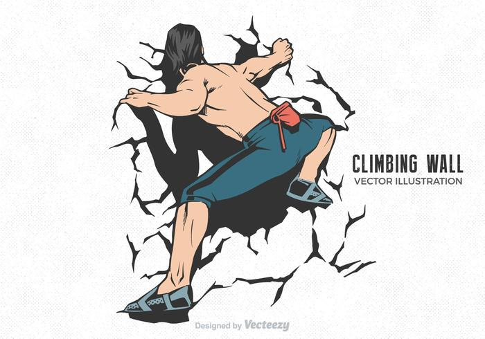 Free Vector Climbing Wall Illustration