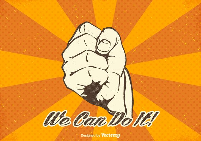 Vector We Can Do It Design