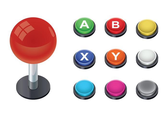 Vetor de botão arcade grátis