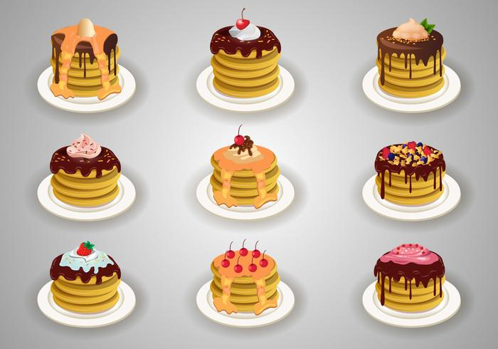 Stock Vector Pancake With Topping
